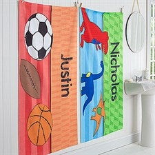 Personalized Boys Bath Towel - Just For Him - 17478