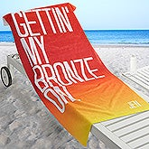Personalized Beach Towel - Beach Quotes - 17488