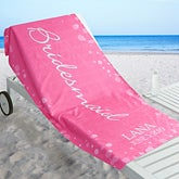 Personalized Beach Wedding Party Beach Towel - Bridal Brigade - 17491