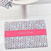Personalized Memory Foam Bath Mat - Geometric Patterns - 17494