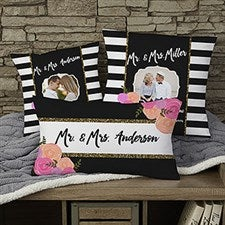Personalized Throw Photo Pillow - Modern Chic - 17497