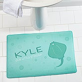Personalized Kids Ocean Animals Memory Foam Bath Mat - Sea Creatures - 17500