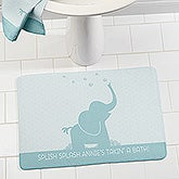 Baby Zoo Animals Personalized Memory Foam Bath Mat - 17503