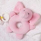 Pink Elephant Baby Rattle - 17513
