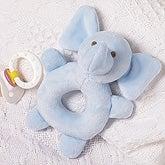 Blue Elephant Baby Rattle - 17514