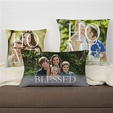 Personalized HOME Photo Throw Pillows - 17516