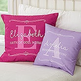 Personalized Name Throw Pillows For Her - My Name Means - 17517