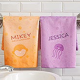 Personalized Hand Towels - Sea Creatures - 17531