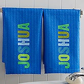 Personalized Kids Bathroom Hand Towel Set - All Mine! - 17537