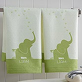 Personalized Kids Animal Hand Towel Set - Baby Zoo Animals - 17538