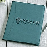 Personalized Logo Teal Padfolio - 17545