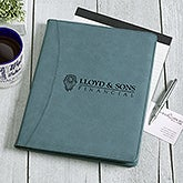 Business Logo Personalized Padfolio - Teal - 17545-PQ-5787