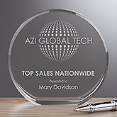 Custom Crystal Awards With Personalized Business Logo - 17547