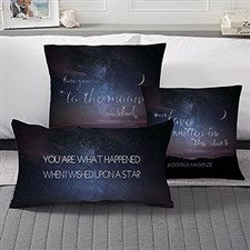 Personalized Romantic Throw Pillows - Written In The Stars - 17548