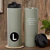 Personalized Travel Tumbler - Sophisticated Quotes  - 17558