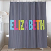 Personalized Kids' Shower Curtain - All Mine - 17585