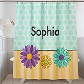 Personalized Shower Curtain For Girls - 17590