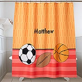 Personalized Shower Curtain For Boys - 17591