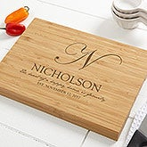 Personalized Bamboo Cutting Board - Heart Of Our Home - 17593