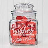 Personalized Anniversary Party Advice & Wishes For Personalized Glass Jar - 17607