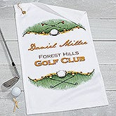 Personalized Golf Towel - Golf Course - 17611