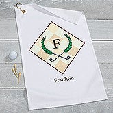 Personalized Monogram Golf Towel - Golf Pro - 17618