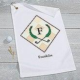 Personalized Monogram Golf Towel - Golf Pro - 17618
