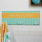 Personalized Towel Racks - Chevron & Polka Dots - 17620