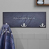 Personalized 3 Hook Towel Rack - Heart of Our Home - 17624