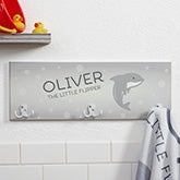 Personalized Kids Bathroom Towel Hook - Sea Creatures - 17626