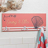Personalized Towel Racks - Nautical Designs - 17627