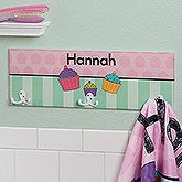 Kids Personalized Towel Hook Rack For Girls - 17633