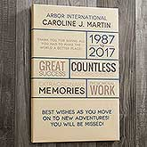 Personalized Retirement Wishes Canvas Art Print - 17636
