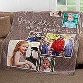 Personalized Photo Collage Blanket - They're Worth Spoiling - 17638