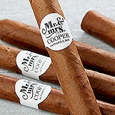 Personalized Wedding Cigar Labels - The Happy Couple - 17643