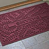 Personalized Leaves AquaShield Molded Doormat - Boxwood - 17651D