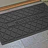 Personalized Family AquaShield™ Molded Doormat  - Argyle Family - 17652D