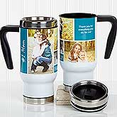 Personalized Travel Mug - Family Photo Collage - 17666