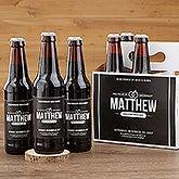 Personalized Groomsman Beer Bottle Labels & Bottle Carrier - Will You Be My Groomsman? - 17669
