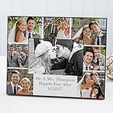 Personalized Wedding Photo Printed Picture Frame - Wedding Photo Collage - 17679