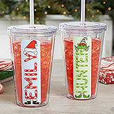 Personalized Insulated Tumblers - Christmas Characters - 17683