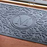 Personalized Leaves AquaShield Molded Doormat - Falling Leaves Monogram - 17703D