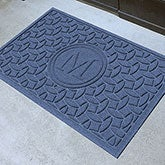 Personalized Monogram AquaShield Molded Doormat - Ellipse - 17705D