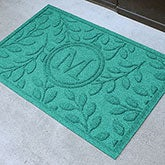Personalized Leaf AquaShield Molded Doormat - Brittany Leaf Monogram - 17706D