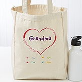 Personalized Ladies Canvas Tote - All Our Hearts - 17729