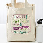 Personalized Teacher Quotes Tote Bag - 17732