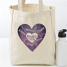 Personalized Heart Puzzle Tote Bag - We Love You To Pieces - 17733