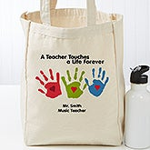 Personalized Teacher Tote Bag - Touches A Life - 17736