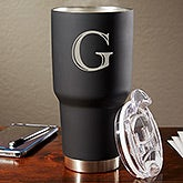 Personalized 30 Oz. Stainless Steel Initial Travel Mug - The Big Boss - 17753