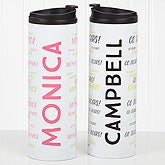Personalized Name Travel Tumbler - Hello! My Name Is - 17756